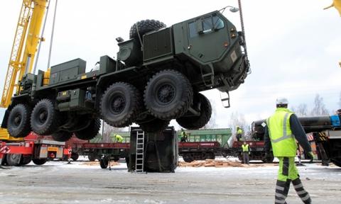 Военная техника СШАприбыла вЛитву